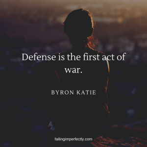Defense is the first act of war.